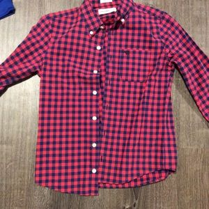 Boys Abercrombie and Fitch Red Flannel/Dress Shirt